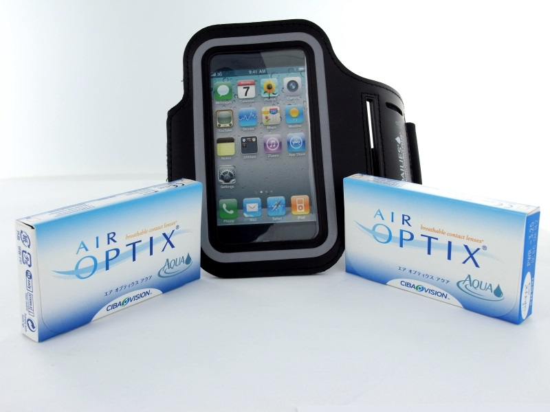 No Air Optix Aqua, 2x 6er Box + IPhone Armbandtasche