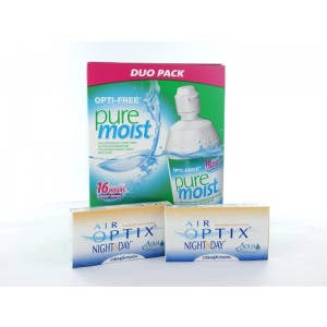 Air Optix Night & Day Aqua, 2x 3er Box + Pflegemittel