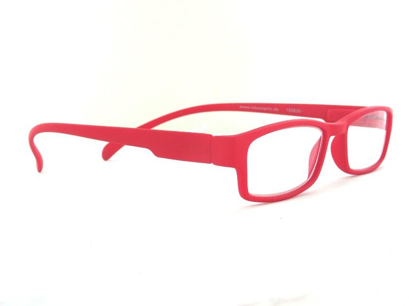 Klammeraffe NO 01 Bright Red +1.0 Lesebrille