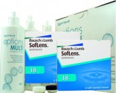 No Soflens 38, 2x 6er Box + Pflegemittel